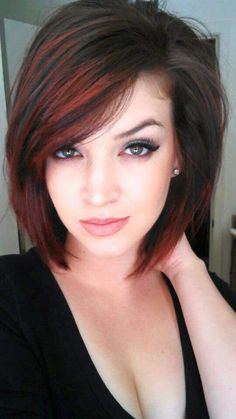 70 Best A-Line Bob Hairstyles Screaming with Class and Style - Wild and Red A-Line Haircut - Bob Haircut For Fine Hair, Haircut And Color, A Line Haircut Short, A Line Short Bob, Ling Bob Haircut, Hair Colours 2014, Hair Colors, Popular Haircuts, Latest Haircuts