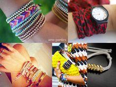 4 diy bracelet tutorials...just pile 'em on #apairandaspare