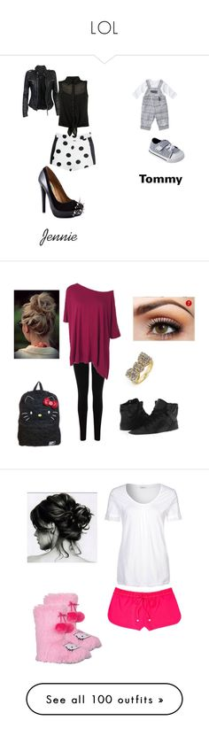 """LOL"" by briannalyn8 ❤ liked on Polyvore featuring Circo, MuuBaa, Penny Sue, Oasis, Supra, Vans, BaubleBar, Schiesser Revival, Juicy Couture and Hello Kitty"
