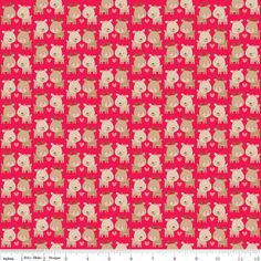 Red Deer Holiday Fabric by Riley Blake by SewFancyFabrics on Etsy