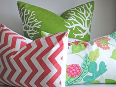 SET Of THREE COORDINATING 18x18 and 12x18 by simplydivinebyjoann