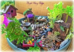 Fairy Garden Miniature Birdhouse Fairy Garden by PurpleFairyShoppe