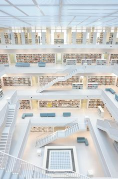 Inside the library in Stuttgart Germany. I N S I D E by Dietmar-Ft on 500px