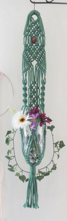 """Macrame plant hanger, SAGE, 34"""", hanging planter basket, plant holder, modern…"""