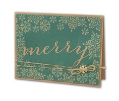 Merry Embossed Snowflakes Card - click through for project instructions.