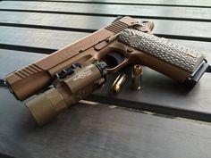 USMC Colt M45a1 CQBP 1911a1 w/ Surefire light .45 acp M45 USGI. ION bond finish. Find our speedloader now! http://www.amazon.com/shops/raeind