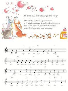 liedje konijn Pop Culture, Diy And Crafts, Literature, Singing, Preschool, Bunny, Songs, History, Kids