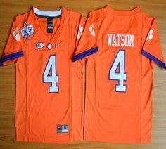 Youth Clemson Tigers DeShaun Watson 4 Diamond Quest College Football Jersey - Orange