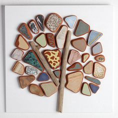 Hey, I found this really awesome Etsy listing at https://www.etsy.com/listing/234635416/sea-pottery-mosaic-summer-tree-30x30-cm