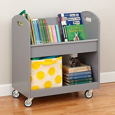 Know just the place for this cute bookcase cart - my toddler would love this!
