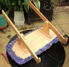 LAP STAND FOR EMBROIDERY OR NEEDLEPOINT FRAME FROM COLESHILL | eBay: