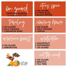 On Guard - Hol Vibe Wellness On Guard Essential Oil, Fall Essential Oils, Homemade Essential Oils, Essential Oil Blends, Doterra Oil Diffuser, Diy Essential Oil Diffuser, Doterra Essential Oils, Cinnamon Bark Essential Oil, Osho