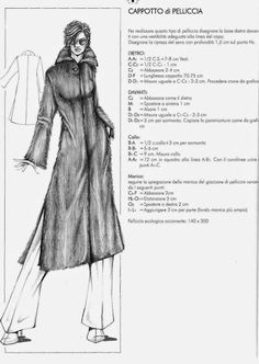 from Il modellismo Dress Sewing Tutorials, Skirt Patterns Sewing, Coat Patterns, Mens Shirt Pattern, Jacket Pattern, Pattern Making Books, Pattern Books, Italian Pattern, Free Printable Sewing Patterns