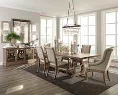 Dining Room Sets, 7 Piece Dining Set, Dining Room Design, Dining Room Table, Elegant Dining Room, Kitchen Dining, Farmhouse Dining Room Lighting, Classic Dining Room, Table Bench