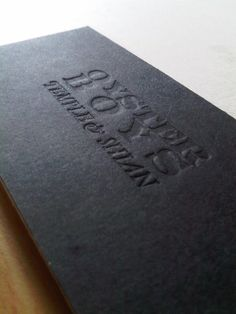 Hand Made Business Card for Oyster Boys by Karel Prokes, via Behance