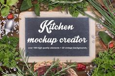 Kitchen mockup creator by Grafvision photography on @creativemarket