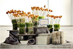 Skewers in wheat grass. Wheat Grass, Wedding Dinner, Skewers, Rehearsal Dinners, Brunch, Wedding Foods, Brunch Party