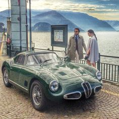 "Jesus…. 1958 Alfa Romeo 1900 Sport Prototype Coupe finaest: ""Another shot from our backstage for our corporate video with the protagonists: Fabio Attanasio, Marialuigia Lamenza and the customised Alfa..."