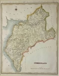 Map by Creighton & Walker; an antique map in our Cumberland (England) category. Old Maps, Antique Maps, Vintage World Maps, Antiques, Antiquities, Antique, Old Cards