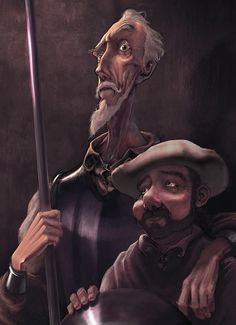 Quijote y Sancho by Antonio Ares Gastesi