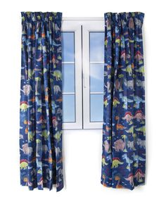 Blue Dino Print Curtains Pencil Pleat Curtains Cotton Pencil Pleat Curtains: x x Cotton Matching bedroom accessories also available in this collection. Double Duvet Covers, Single Duvet Cover, Linen Bedroom, Linen Bedding, Duvet Sets, Duvet Cover Sets, Leather Bean Bag, Pleated Curtains, Pencil Pleat