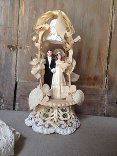 """9"""" tall 4"""" wide, $68 -- This is my cake topper!"""