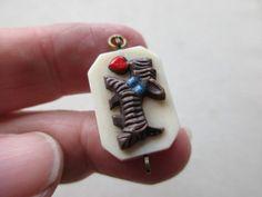 ANTIQUE VINTAGE ART NOUVEAU DECO EARLY PLASTIC SCOTTIE DOG FOB CHARM PENDANT OLD    eBay