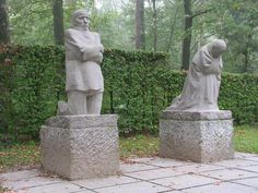Grieving Parents - Monument in the military cemetery of Eessen in Flanders, by Käthe Kollwitz