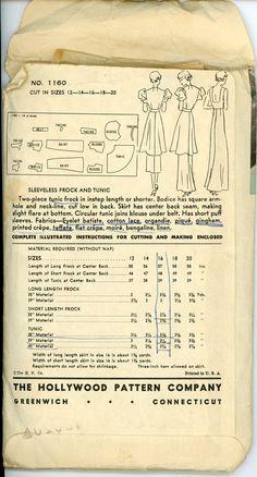 1930s Evening Dress Pattern Hollywood 1160 от CynicalGirl на Etsy
