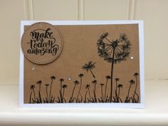 Handmade birthday card,rustic Kraft card, flower themed, multipack,hand stamped, blank inside, notelet, friend, thank you tasteful sentiment