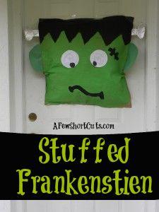 Stuffed Frankenstein Halloween Craft! So cute!