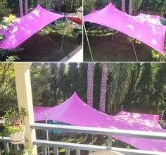 Pink stretch tents.