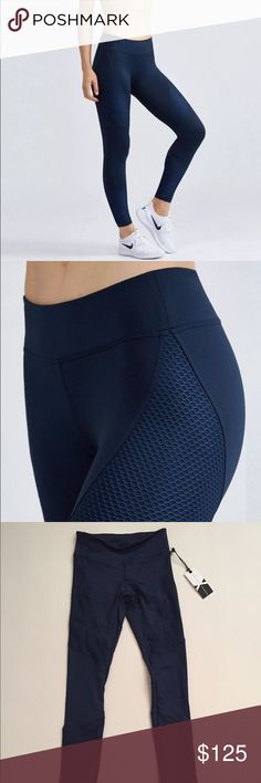 "NWT Koral Activewear Sector Legging Something Navy NWT. Limited edition by Koral Activewear ""Something Navy"" collection from summer 2016. Sector leggings. Mesh details. Size XS. Compression style. Koral Activewear Pants Leggings"