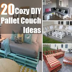 DIY Home Things - http://www.diyhomethings.com/20-cozy-diy-pallet-couch-ideas/