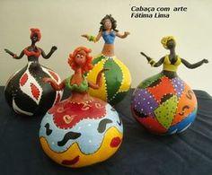 bonecas de cabaça africanas