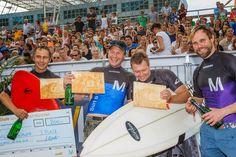 Die Sieger der Masters - Alex Schwab, Fritz Hollweck und Robert Beetz. Platz 4 für Markus Knöringer.