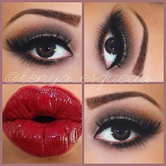 Smokey Eye + Red Lip