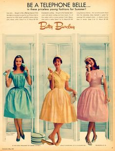 1960s fashion ad from seventeen magazine