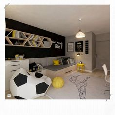 Pokój dla juniora by living box is part of Teenage room - Find home projects from professionals for ideas & inspiration Pokój dla juniora by living box homify Soccer Bedroom, Boys Bedroom Decor, Girls Bedroom, Bedroom Ideas, Soccer Themed Bedrooms, Football Bedroom, Decoration Bedroom, Bedroom Wall, Nursery Ideas