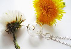 Pusteblumen Kette Silber 925er von Flowerring auf DaWanda.com