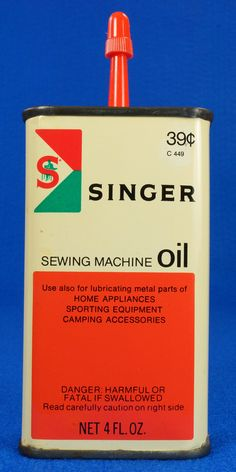 Vintage 1960's SINGER Sewing Machine Oil 4 oz Tin Can 39 Cent C 449 Full To see the Price and Detailed Description you can find this item in our Category Vintage Auto, Gas & Oil on eBay: http://stores.ebay.com/tincanalley1/Vintage-Auto-Gas-Oil-/_i.html?_fsub=19469213018