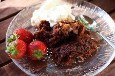 Brownies stekt på grillen