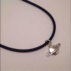♡SATURN CHARM NECKLACE!♡ ♡homemade! Look like the ones from brandy!    ♡one size fits all!                                                   ♡leather cord!✨ Brandy Melville Accessories