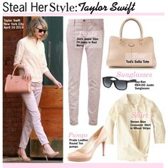 Steal Her Style:Taylor Swift Taylor Swift New York, Taylor Swift Style, Taylor Swift Outfits, Round Toe Pumps, Celebrity Look, Her Style, Polyvore, Steven Alan, Style