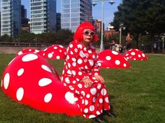 More Yayoi!! Kusama visited her new summer installation on Pier 45 at Christopher Street today. Thanks to the Hudson River Park Trust and Gagosian Gallery for collaborating on this installation!