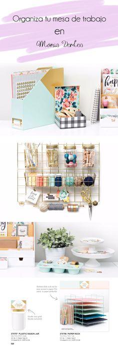 Storage. Almacenamiento. Accesorios para organizar tu escritorio y dejarlo precioso. Rejilla dorada