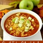 Chipotle Turkey Chili with Apples....I might try with a meat substitute to make it vegetarian. I like the idea of apple cider in chili!