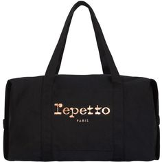 Repetto Duffle Bag ($93) ❤ liked on Polyvore featuring bags, handbags, black, duffle bag, repetto bag, zip purse, zipper bag and zip bag
