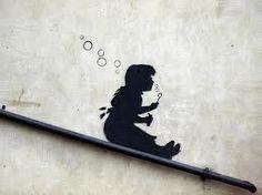 Banksy: Bubble Girl. @Deidra Brocké Wallace