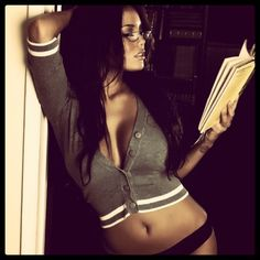 If I had those boobs I know i could fit that sexy librarian stereotype... Nerd #sexy #desiremagazine.com